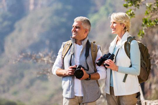 senior hikers enjoying outdoor activity