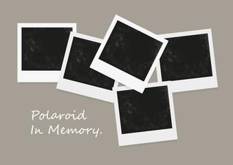 Instant photo on color background. Polaroid photo, old Polaroid