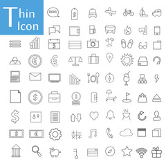 Thin line icons vector.