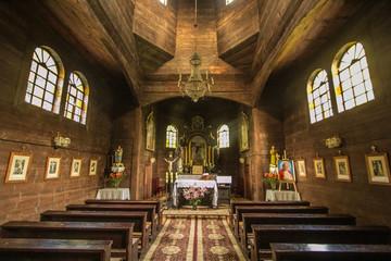 Old Orthodox Church in Bieszczadys mountains.