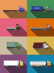 flat commercial vehicles set