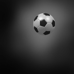 Soccer ball on a dark background