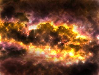 My imagine nebulas space illustration background.