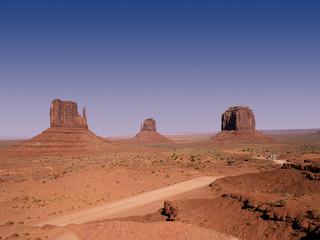 Monument Vallet on Navajo tribal lands of Arizona and Utah USA