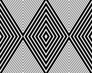 Vector modern seamless pattern diamonds ,black and white textile print, abstract texture, monochrome fashion design