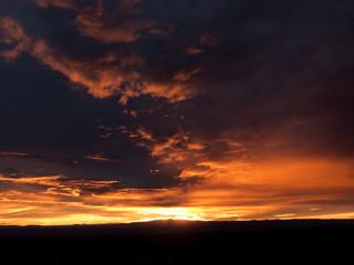 Sunset from Sandia peak in Albuquerque New Mexico USA