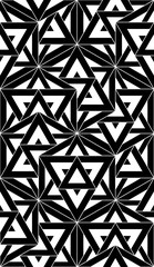 Vector modern seamless pattern sacred geometry ,black and white textile print, abstract texture, monochrome fashion design