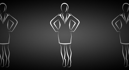 Business Woman icon illustration