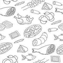 Seamless meat pattern