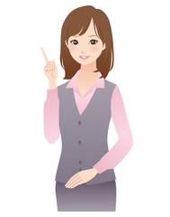 説明する女性 OL 受付 ビジネス