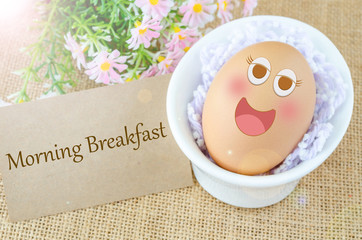 Morning breakfast and egg
