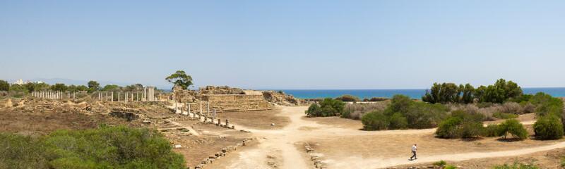 Кипр. Развалины римского поселения Salamis (IV век до н. э.).