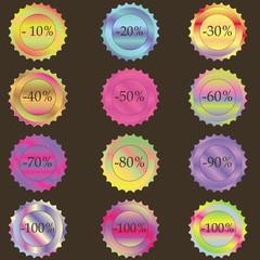 set of labels discounts