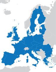 blue European Union map