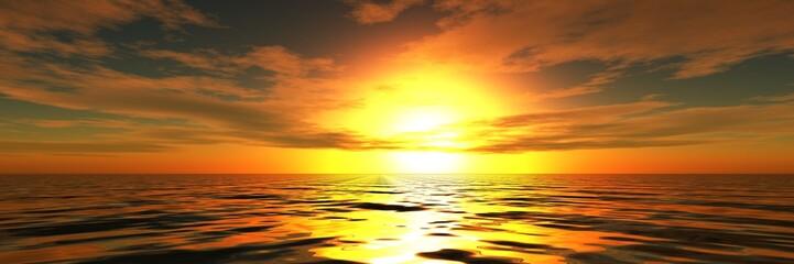 sea sunset or sunrise