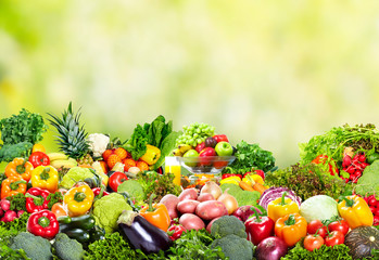 Wall Mural - Fresh vegetables and fruits.