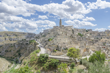 Ancient town of Matera in Basilicata, Southern Italy