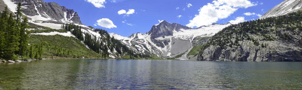 Panorama of Colorado 14er, Snowmass Mountain, Elk Range, Rocky Mountains