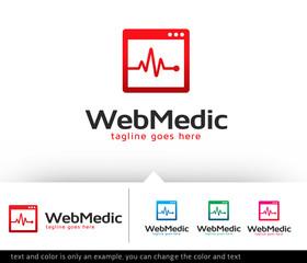 Web Medic Logo Design Template Vector