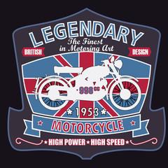 British Motorcycle T-shirt Design