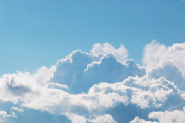 landscape of clouds in the blue sky