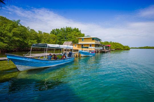 ISLA COLON, PANAMA - APRIL 25, 2015 : Colon Island is the northernmost and main island in the Bocas del Toro