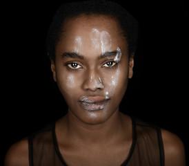 Black Woman White hand
