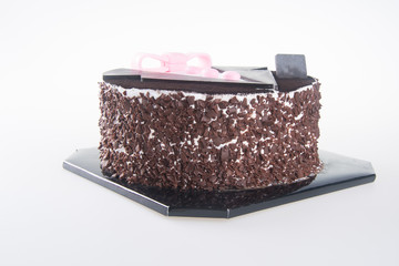 cake. chocolate cakes on background