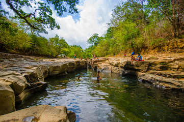 Los Cangilones de Gualaca is one of the best natural swimming bath in the province of Chiriquí