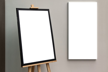 Blank isolated paper poster frame