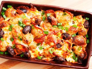 Potato casserole with olives