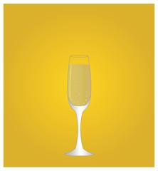Minimalist Drinks List with Champagne Golden Background EPS10