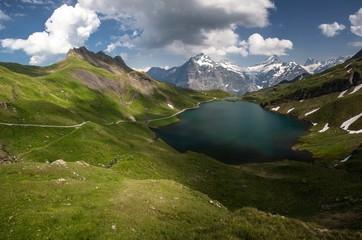 Swiss beauty, Schreckhorn and Wetterhorn  from Bachalpsee lake