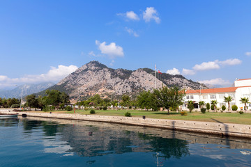 Kemer seaside. View of Mediterranean coast Antalya, Turkey
