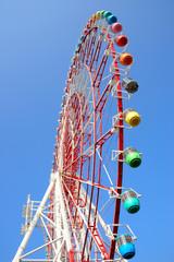 A Ferris wheel in Tokyo, Japan.