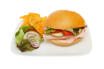 Ham roll salad