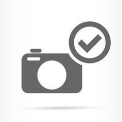 camera confirm image icon