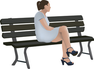 donna seduta sulla panchina