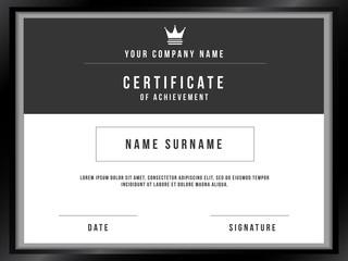 Vector Certificate Template with Premium Minimal Design