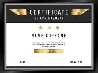Vector Certificate Template with Premium Minimal Design