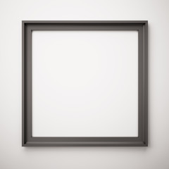 black picture frame on white wall