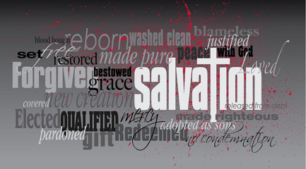 Christian Salvation word montage