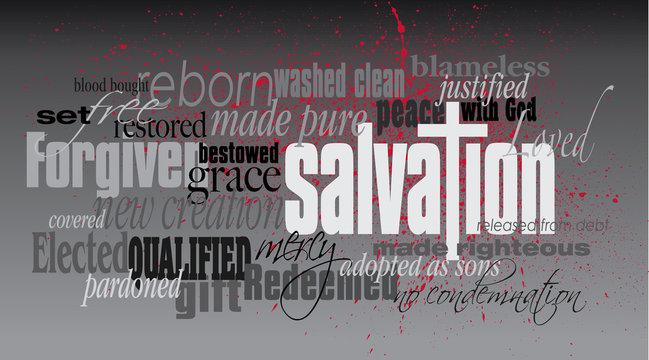 Christian Salvation word montage