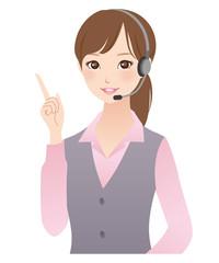 テレフォンオペレーター 女性