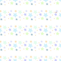 Stars on a white background. Seamless.