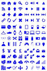 96 Icons Set Blue