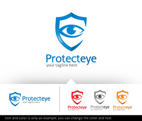 Protect Eye Logo Template Design Vector