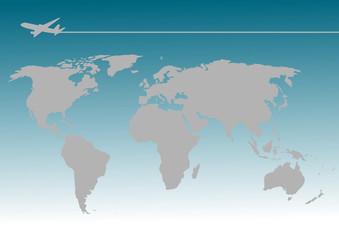 飛行機 世界地図