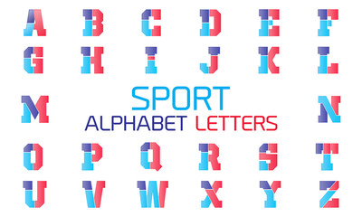 Sport alphabet letters. vector design template elements for your application or company
