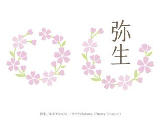 和風月名と誕生月花/弥生、3月、桜